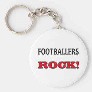 Footballers Rock Keychain