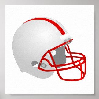 FootballHelmet_Vector_Clipart sports logo icon Poster