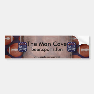 footballmeanscopy, la cueva del hombre, beer.sport pegatina para auto