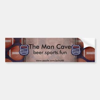 footballmeanscopy, The Man Cave, beer.sports.fu... Bumper Sticker