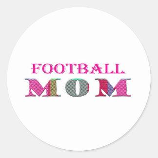 FootballMom Classic Round Sticker