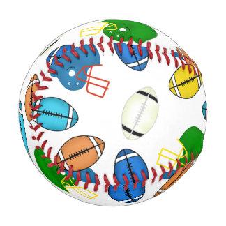 Footballs and Helmets sport theme patterns Baseball