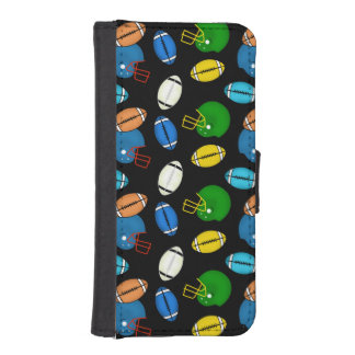 Footballs and Helmets sport theme patterns iPhone 5 Wallet