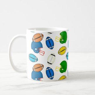 Footballs and Helmets theme Mug