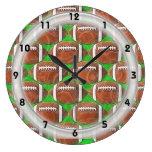 FOOTBALLS Clock