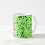Footballs, Green Shirts, & Fans Larger Pattern Coffee Mug