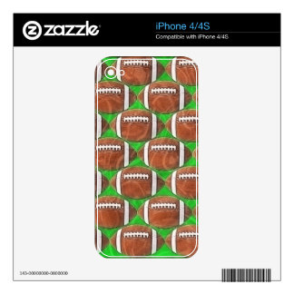 FOOTBALLS iPhone Skin Decal For The iPhone 4