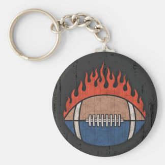 Footballs of Fire Keychain