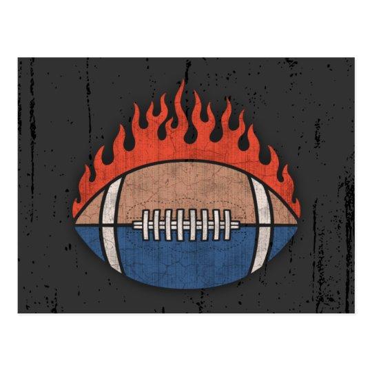 Footballs of Fire Postcard