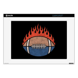 "Footballs of Fire Skins For 15"" Laptops"