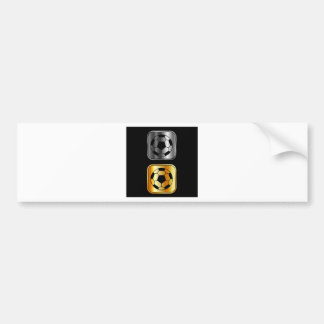 Footballs on black background bumper sticker
