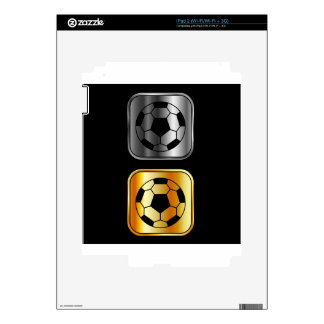 Footballs on black background iPad 2 decals