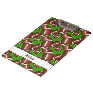 Footballs Pattern Clipboard