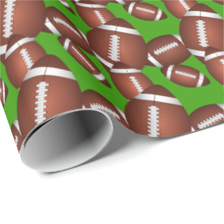 Footballs Pattern Gift Wrap