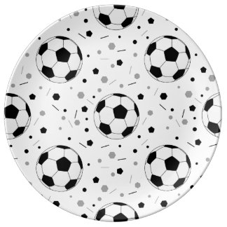 Footballs Porcelain Plates