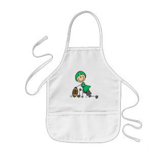 footballstickthree kids' apron