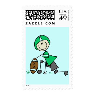 footballstickthree postage stamps