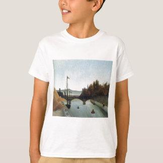 Footbridge at Passy by Henri Rousseau T-Shirt