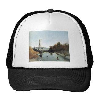 Footbridge at Passy by Henri Rousseau Trucker Hat