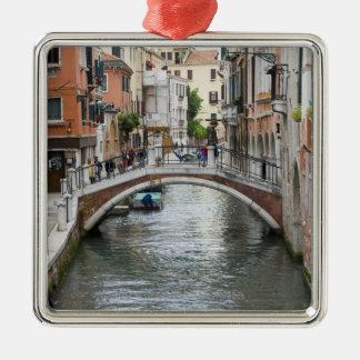 Footbridge in Venice Metal Ornament