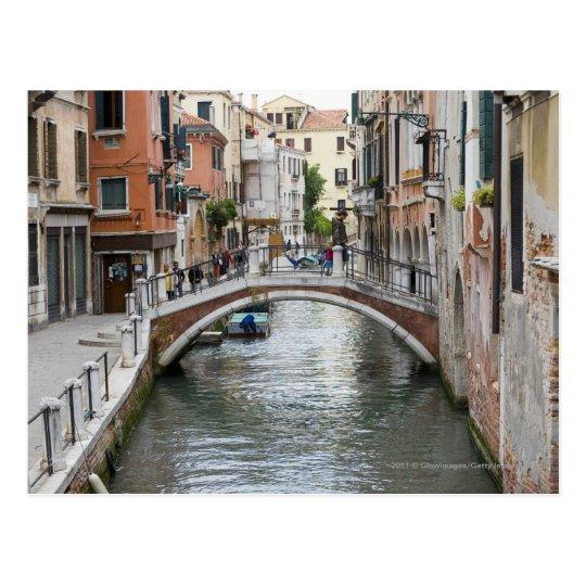 Footbridge in Venice Postcard
