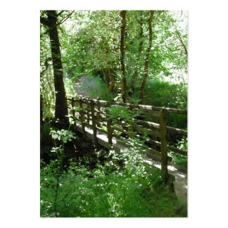 Footbridge in Woodland. Large Business Cards (Pack Of 100)