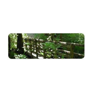 Footbridge in Woodland Return Address Label