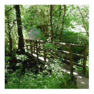 Footbridge in Woodland. Statuette