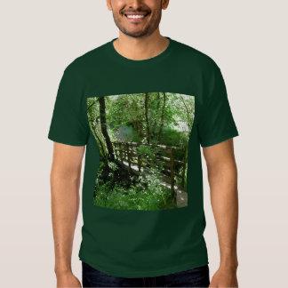 Footbridge in Woodland. T-shirt