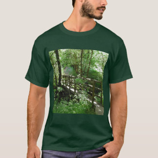 Footbridge in Woodland. T-Shirt