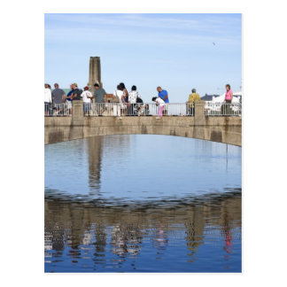 Footbridge Over Lake Asbury Park NJ Post Card