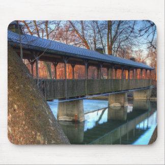 Footbridge Reflection Mouse Pad