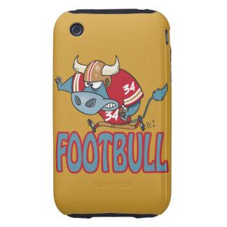 Footbull funny football bull cartoon tough iPhone 3 cover
