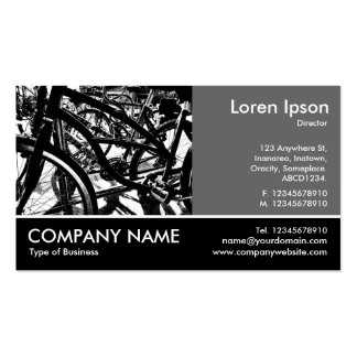 Footed Photo - 60pc Gray - Bicycle Rack HC Business Card