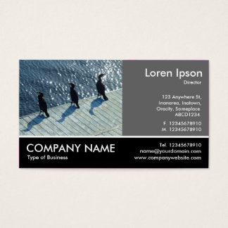 Footed Photo - 60pc Gray - Three Cormorants Business Card