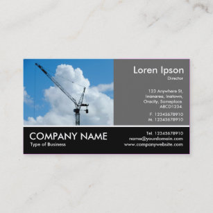 Crane business cards templates zazzle footed photo 60pc gray tower crane business card colourmoves