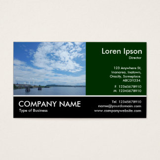 Footed Photo - Dk Green - Cardiff Bay Business Card
