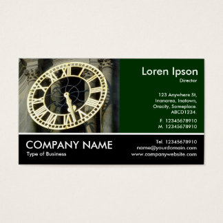 Footed Photo - Dk Green - City Hall Clock Cardiff Business Card
