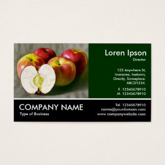 Footed Photo - Dk Green - Pink Ladies (Painting) Business Card