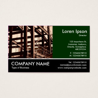 Footed Photo - Dk Green - Steel Frame Construction Business Card