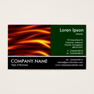 Footed Photo - Dk Green - Tongues of Fire Business Card