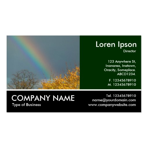Footed Photo - End of the Rainbow Double-Sided Standard Business Cards (Pack Of 100)