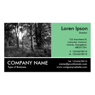 Footed Photo - Faded Green - In the Woods Business Card