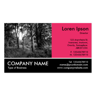 Footed Photo - Regal Red - In the Woods Business Card