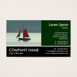 Footed Photo - Vintage Sailing Yacht Business Card