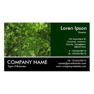 Footed Photo - Woodland Canopy Double-Sided Standard Business Cards (Pack Of 100)