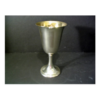 Footed Silver Tumbler Postcard
