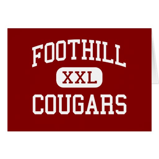 FootHill - Cougars - High - Palo Cedro California Greeting Card
