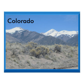 Foothills In Colorado Poster 20 x 16 inches