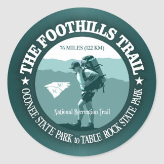 Foothills Trail Classic Round Sticker